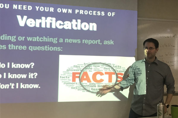 News Literacy program shows students how to spot fake news
