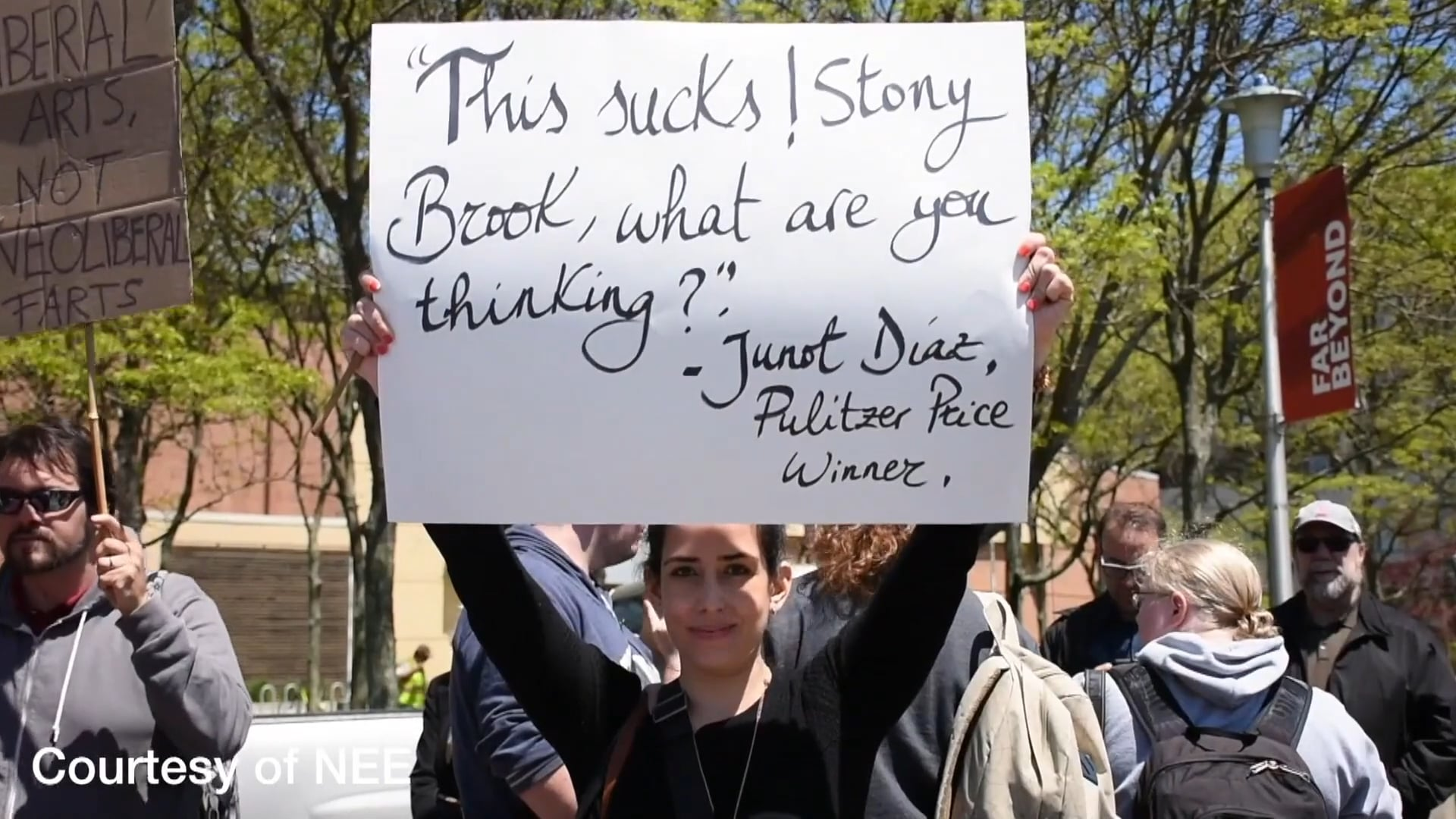 Stony Brook News: The Lone Protester