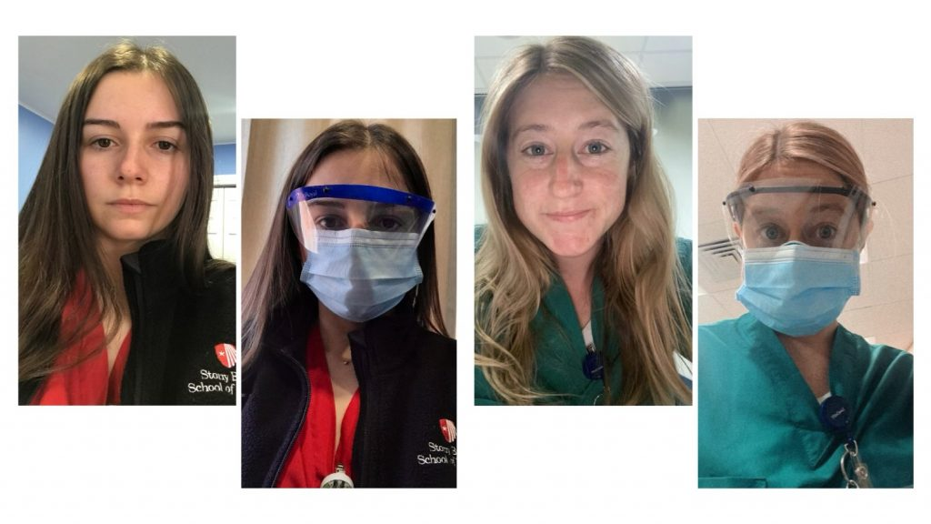 students in PPE to help care for covid patients