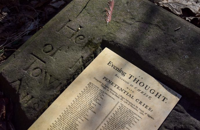 A lost burial: The suspected grave of America's first published Black poet